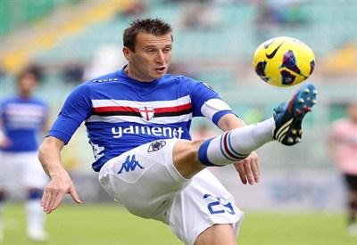 Gastaldello con la maglia della Sampdoria (Fonte Infophoto)