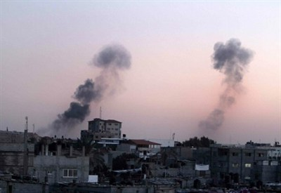 Bombing by Israel in Gaza  (Infophoto)