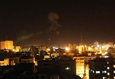 Notte su Gaza (InfoPhoto)
