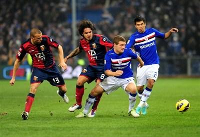Un'immagine della partita d'andata (Infophoto)