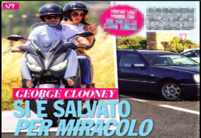 George Clooney, incidente stradale in Sardegna