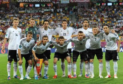 La Nazionale della Germania (Infophoto)
