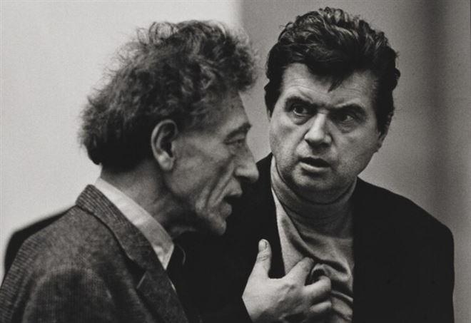 Alberto Giacometti e Francis Bacon (foto Fondazione Beyeler)