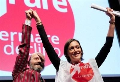 Oscar Giannino lascia il partito a Silvia Enrico (InfoPhoto)