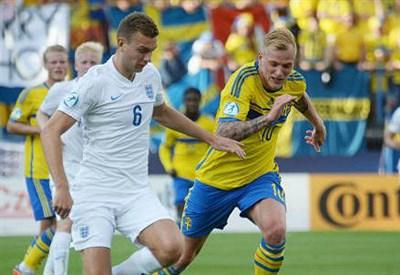 Ben Gibson, 22 anni, difensore inglese e John Guidetti, 23, attaccante svedese (dall'account Twitter ufficiale @UEFAUnder21)