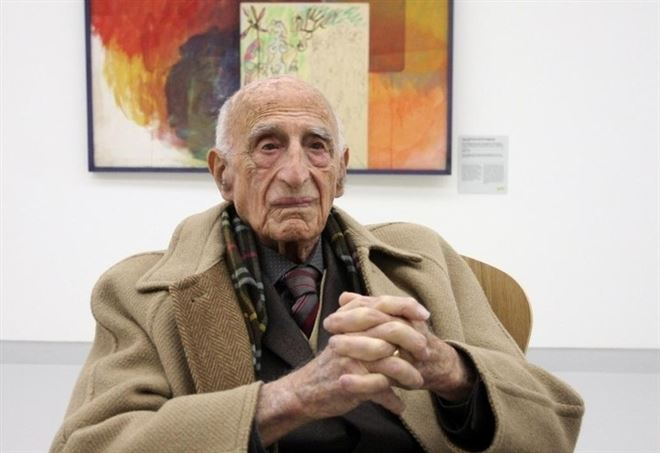 Angelo Eugenio Dorfles (1910-2018) (LaPresse)