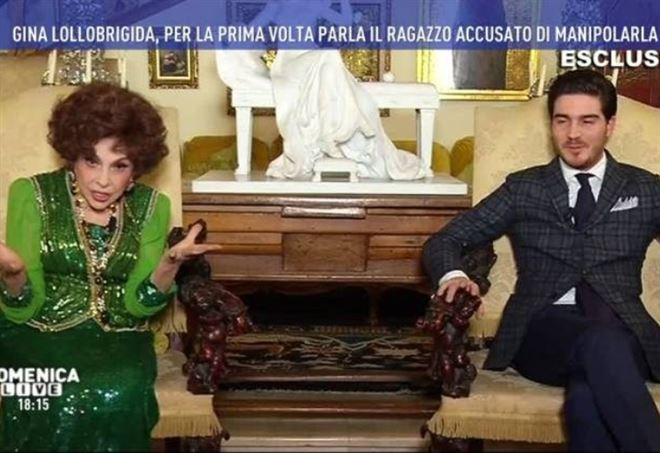 Gina Lollobrigida e Andrea Piazzolla