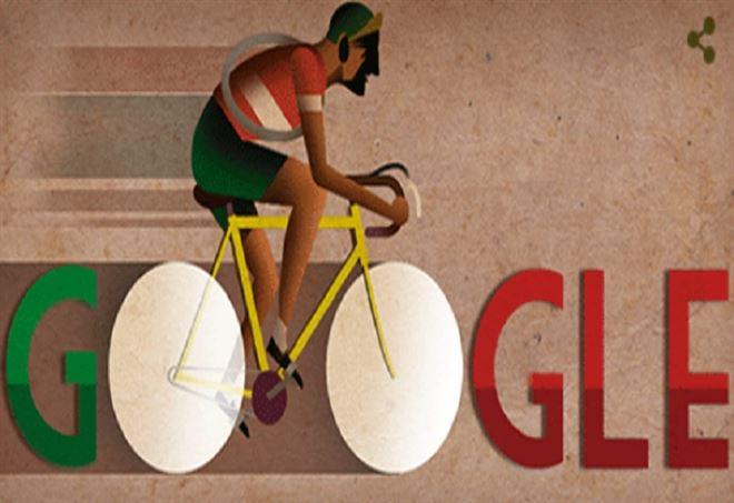 Il doodle di Google dedicato a Gino Bartali