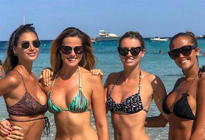 Melissa Satta, Thais Wiggers, Elena Barolo e Giorgia Palmas (Facebook)