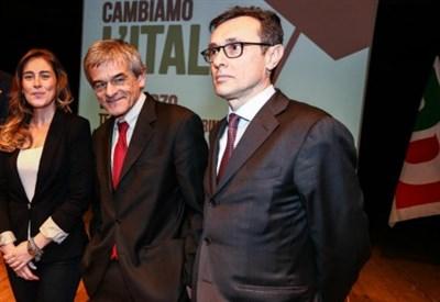 Andrea Giorgis (a destra) con Sergio Chiamparino e Maria Elena Boschi