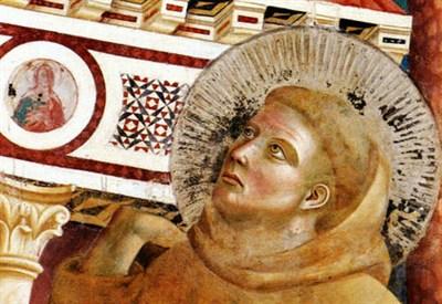 Giotto, Il sogno di Innocenzo III (particolare; 1295-99) (Immagine d'archivio)