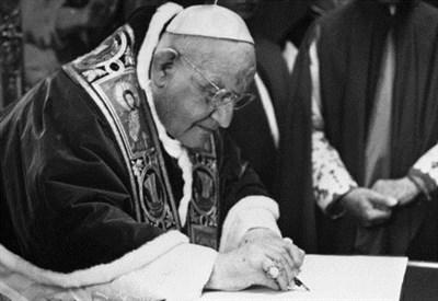 Giovanni XXIII (1881-1963, papa dal 1958) (Immagine d'archivio)
