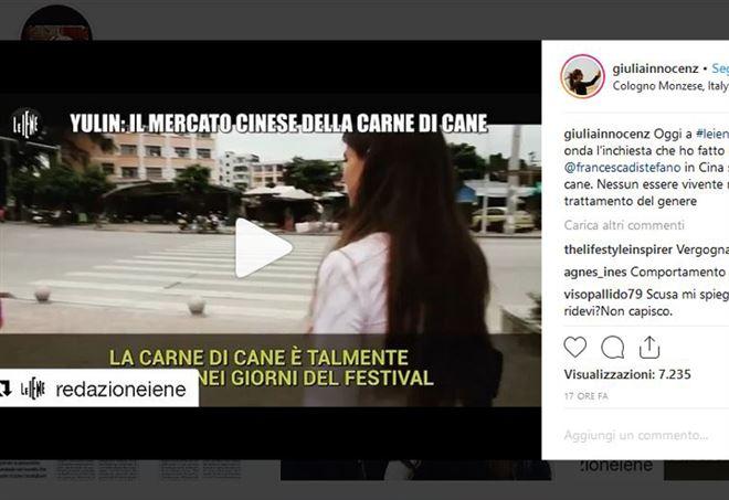 Giulia Innocenzi, critiche per il servizio de Le Iene