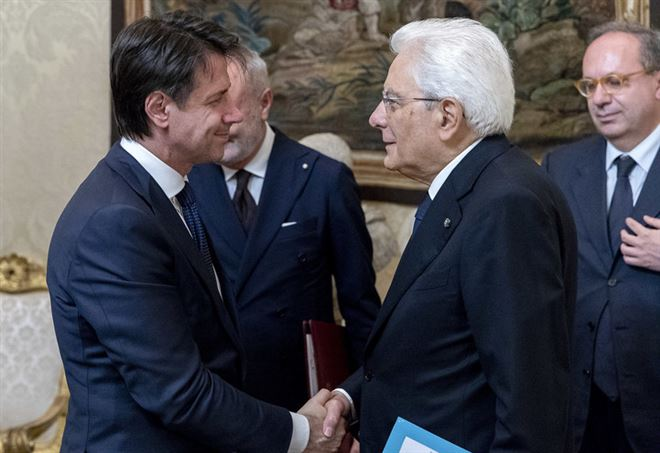 Sergio Mattarella e Giuseppe Conte (Foto: LaPresse)