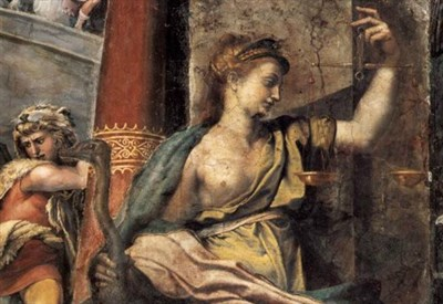 Giulio Romano, La Giustizia (Palazzi Vaticani, Sala di Costantino, 1520) (Immagine dal web)