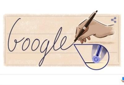 Il Doodle di Google per Ladislao José Biro