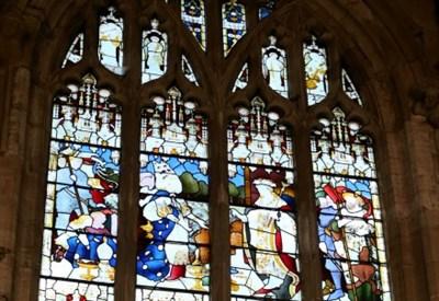Vetrata della Holy Trinity Church, Stratford-upon-Avon (Infophoto)