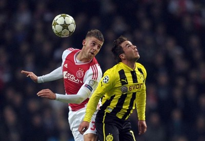 Mario Gotze del Borussia durante la vittoria di ieri con l'Ajax (Infophoto)