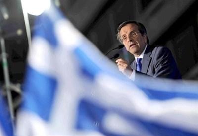 Il premier greco Samaras (InfoPhoto)
