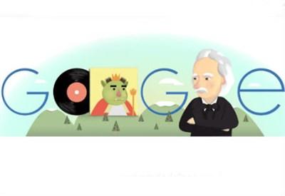 Il logo di Google per Edvard Grieg