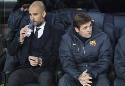 Pep Guardiola con Tito Vilanova (Infophoto)