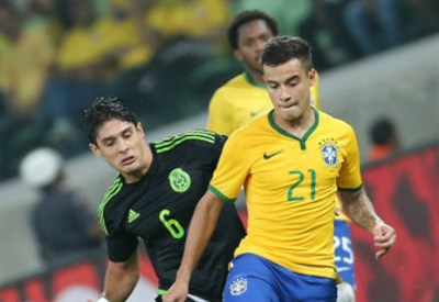 Philippe Coutinho, 23 anni, trequartista del Brasile (INFOPHOTO)