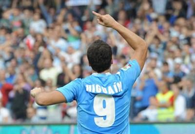 Gonzalo Higuain, attaccante del Napoli (Infophoto)