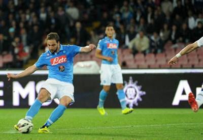 Gonzalo Higuain, 27 anni, attaccante del Napoli (infophoto)