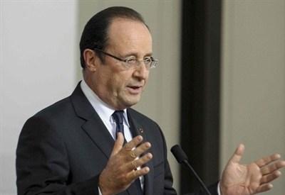 Il presidente francese François Hollande (InfoPhoto)