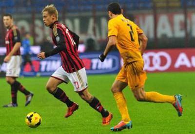 Keisuke Honda, centrocampista del Milan (Foto Infophoto)