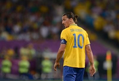 Zlatan Ibrahimovic con la maglia della Svezia (Infophoto)
