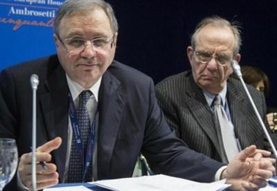 Ignazio Visco e Pier Carlo Padoan (LaPresse)