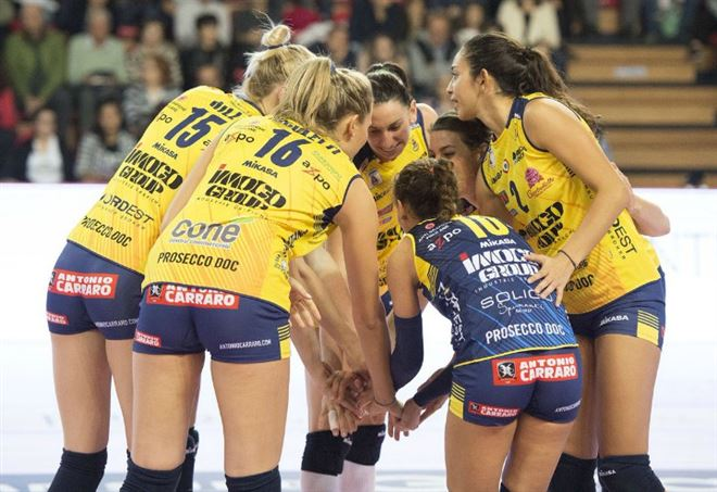 La formazione di Conegliano -  Risultati volley femminile (LaPresse)