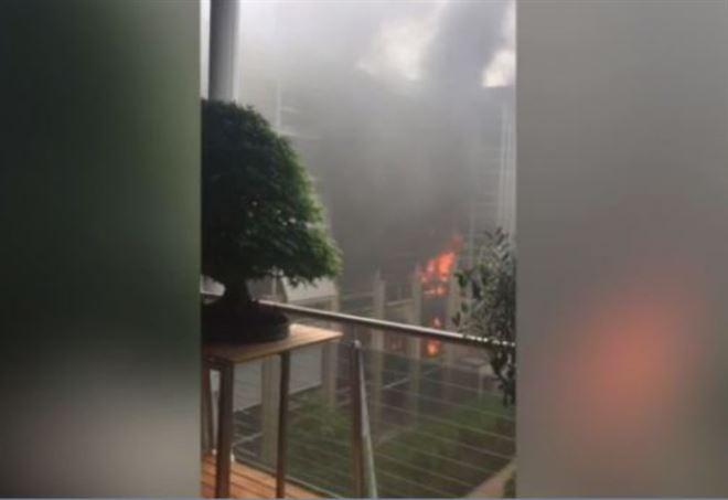 Incendio a Torino: a fuoco tre piani di una palazzina