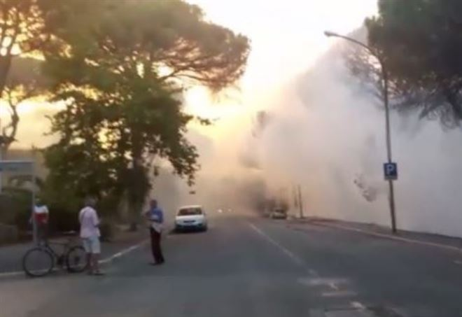 Incendio Marina di Grosseto (da Video)