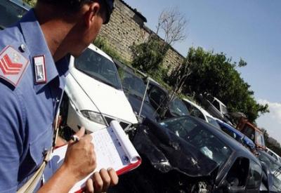 Solo il 30% degli incidenti con danni fisici viene verbalizzato dalle forze dell'ordine (Infophoto)