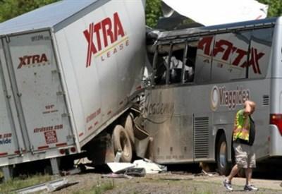 L'incidente sull'Interstate 380 (Immagine dal web)