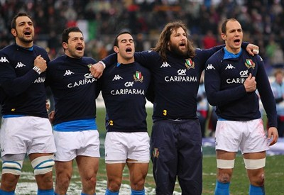 Nazionale italiana rugby (Infophoto)
