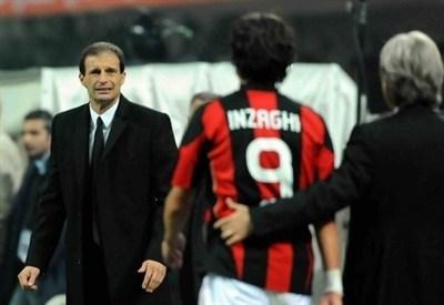 Max Allegri e Filippo Inzaghi (Infophoto)