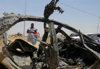 Attentato kamikaze a Baghdad (LaPresse)