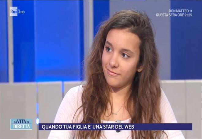 Iris Ferrari a La Vita in Diretta