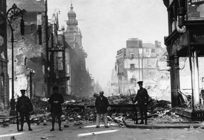 Dublino nella Pasqua 1916 (Foto mirror.co.uk)