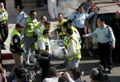 Dopo l'attentato di ieri a Gerusalemme (Infophoto)