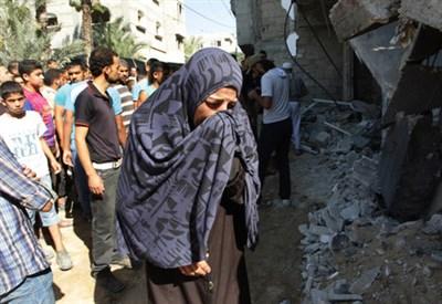 Per le strade di Gaza (Infophoto)