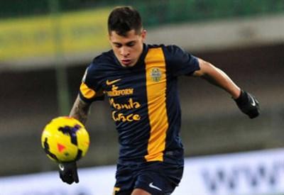 Juan Iturbe, 20 anni, attaccante del Verona (Foto Infophoto)