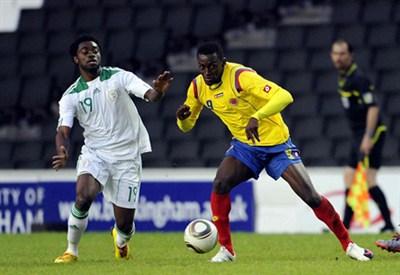 Jackson Martinez in azione con la Colombia (Fonte Infophoto)