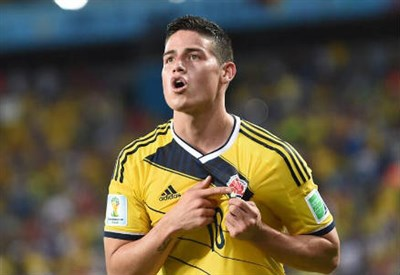 James Rodriguez, 22 anni (dal profilo Twitter ufficiale @FIFAWorldCup)