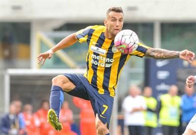 Bosko Jankovic, 31 anni, centrocampista serbo dell'Hellas Verona (INFOPHOTO)