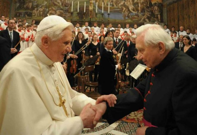 I fratelli Ratzinger (LaPresse)