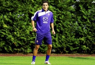 Stevan Jovetic, 22 anni, si allena nel ritiro di Moena (INFOPHOTO)